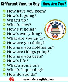 Different Ways to Say How Are You? English Phrases - Lessons For English Essay Writing Skills, English Writing Skills, Writing Words, English Lessons, English Sentences, English Vocabulary Words, English Phrases, Learn English Words, Teaching English Grammar