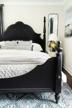 Decorating tricks to make a small bedroom feel larger using quick, budget-friendly projects and decorating sources to get the designer look for less.