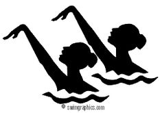 Synchronized Swimming Duet Clipart: Page Three. Swimming Cake, Keep Swimming, Page Three, Synchronized Swimming, Ea Sports, Water Polo, Silhouette Portrait, Figure Skating, Disney Art