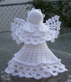 Ángel de crochet  blanco por maryellenscrafts en Etsy
