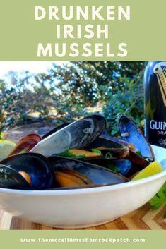 Drunken Irish Mussels in Guinness Sauce | The McCallum's Shamrock Patch