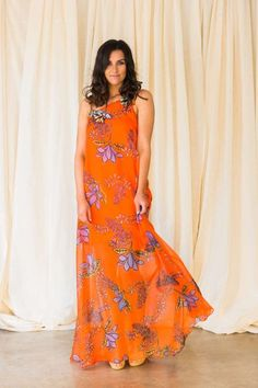 PINKO FIASCO – LONG DRESS WITH A FLORAL DESIGN