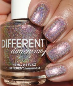 Different Dimension Homespun Holidays Collection Swatches & Review | KellieGonzo | Bloglovin' / Tradition is a pale copper holographic polish with added copper shimmers