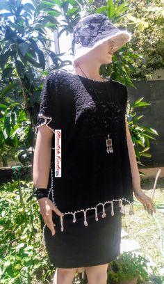 Siyah Pamuk Dantel Bluz - 170617   Otantik Kadın, Otantik Giysiler, Elbiseler,Bohem giyim, Etnik Giysiler, Kıyafetler, Pançolar, kışlık Şalvarlar, Şalvarlar,Etekler, Çantalar,şapka,Takılar