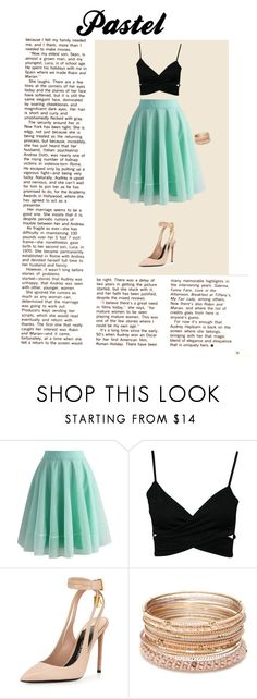 """""""Pastel"""" by tris-prior-eaton-00 ❤ liked on Polyvore featuring Chicwish, Tom Ford, Red Camel and pastel"""