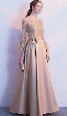 : Harika - Harika Source by - Hijab Prom Dress, Hijab Style Dress, Long Gown Dress, Muslim Dress, Dress Outfits, Dress Brokat Muslim, Dress Brukat, Hijab Gown, Gaun Dress