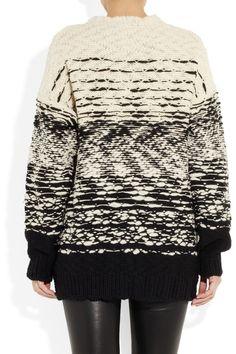 IRO|Kiara ombre-effect merino wool cardigan|NET-A-PORTER.COM