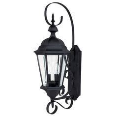Capital Lighting Carraige House Collection 2 Light Black Outdoor Wall Lantern Aluminum