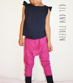magenta harem pants by Needle and Ted