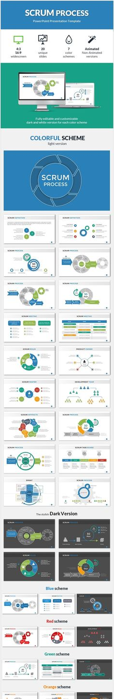 Powerpoint template for computer science graphicriver powerpoint scrum process powerpoint presentation template toneelgroepblik Image collections