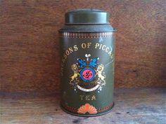 Vintage English Khaki Tea Tin