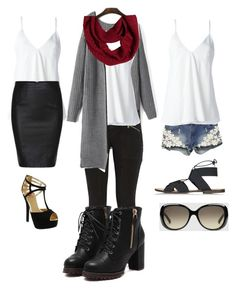"""""""Cami's all year round"""" by megfitz92 on Polyvore featuring J Brand, Dondup, prAna, Topshop, Red Circle and Gucci Blonde Fashion, Blondes, J Brand, Topshop, Gucci, Fashion Looks, Shoe Bag, Polyvore, Red"""