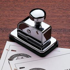 No-Staple Stapler - if it wasn't $45 I'd have bought it already!