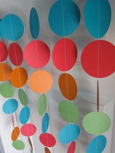 Rainbow Party, Paper Garland, Yo Gabba Gabba Birthday, 1st Birthday, Sesame…