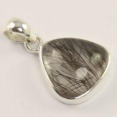 925 Sterling Silver Jewellery Natural TOURMALINATED QUARTZ Gems Stunning Pendant #Unbranded #Pendant