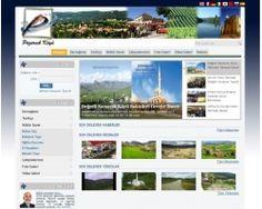 Köy ve dernekler için hazırlanmış hazır web sitesi scripti. Php, Desktop Screenshot
