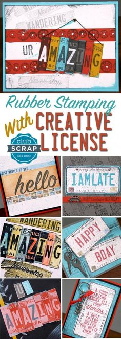Creative License Greeting Cards - Club Scrap