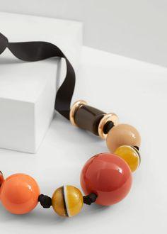 Ожерелье из цепочки с подвесками | MANGO МАНГО