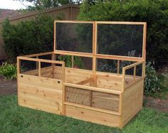 3x6 Rabbit-proof Raised Garden Bed with Two Trellises