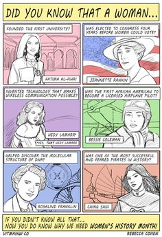 Women's History Month  http://vitaminw.co/culture-society/womens-history-questions-and-facts