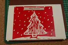 Simple Christmas lino print