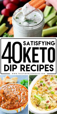 Here are 40 stupidly easy keto dip recipes that are delicious, easy and low carb. These keto dip recipes make for perfect appetizers or snacks for anyone looking for a low carb starter. Low Carb Guacamole Recipe, Chorizo Dip Recipe, Dip Recipes, Keto Recipes, Low Carb Starters, Creamy Spinach Dip, Best Party Appetizers, Spiralizer Recipes, Quick Snacks