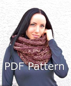 Instant Download Knitting Pattern  Knit Cowl by natalya1905, $4.00