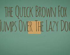 """Dai un'occhiata al mio progetto @Behance: """"The Quick Brown Fox"""" https://www.behance.net/gallery/14954477/The-Quick-Brown-Fox"""