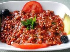 Acili Antep Ezme (pittige Turkse tomatensalsa) – (K)eet mee - Apocalypse Now And Then Vegan Vegetarian, Vegetarian Recipes, Paleo, Clean Eating, Healthy Eating, Tapenade, Turkish Recipes, Mediterranean Recipes, Low Carb Recipes
