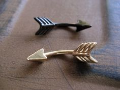 Arrow Belly Button Jewelry Ring 14 Gauge Eyebrow by Azeetadesigns, $14.00