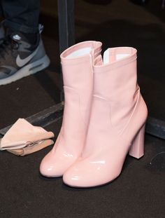 """Mini Go-Go Boots! highfashionporn: """" Backstage at Blumarine Fall 2015 """" Dr Shoes, Tennis Shoes Outfit, Sock Shoes, Cute Shoes, Me Too Shoes, Shoe Boots, Oxford Shoes, Shoes Sneakers, Shoes Heels"""