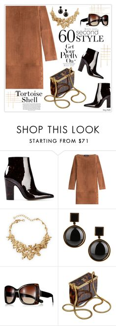 """""""Tortoise Shell Style"""" by mcheffer ❤ liked on Polyvore featuring Maison Margiela, Vanessa Seward, Oscar de la Renta, Marc by Marc Jacobs, Reed Krakoff, Chanel, women's clothing, women, female and woman"""