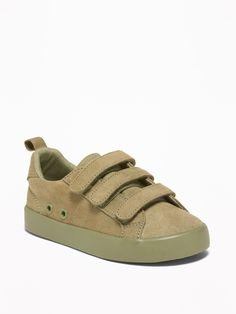 bf84d249054 Faux-Suede Triple-Strap Sneakers For Toddler Boys