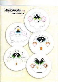 How to paint eyes Tole Painting, Fabric Painting, Painting & Drawing, Doll Face Paint, Flower Pot People, Sewing Crafts, Diy Crafts, Crochet Dolls Free Patterns, Scrapbook Embellishments
