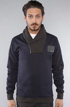 $130 G-star Defense Shawl Sweater in Naval Blue #karmaloop -- Use repcode SMARTCANUCKS at the checkout on Karmaloop.com for a 20% discount -- http://lovekarmaloop.com