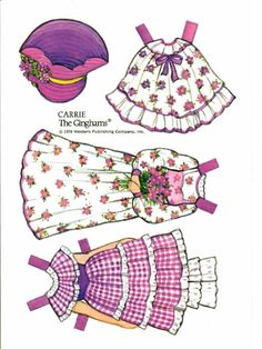 The Ginghams paper doll ans playset: Carrie's Birthday Party, 1978 Whitman #4214 (3 of 6) | Kathleen Taylor's Dakota Dreams