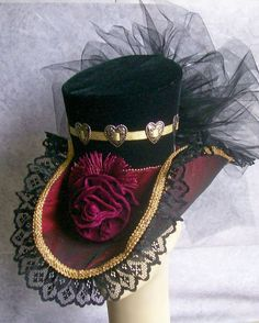 Victorian Steampunk Hat Edwardian Tea Party by GlitzOfFlorida with Pin-It-Button on Etsy Viktorianischer Steampunk, Steampunk Wedding, Steampunk Costume, Steampunk Clothing, Steampunk Fashion, Steampunk Necklace, Gothic Fashion, Victorian Hats, Victorian Fashion