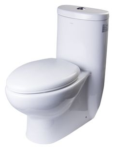 BUY ONLINE EAGO TB309 One Piece Dual Flush High Efficiency Low Flush White Toilet