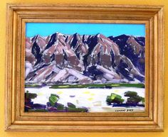 RARE VINTAGE SIGNED CONRAD BUFF 1886-1975 ORIGINAL LANDSCAPE BOARD OIL PAINTING  #Abstract