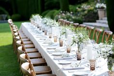 So pretty wedding reception table in the South of France, created by Adams and Adams