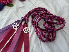 Wedding cord Purple burgundy red eggplant  by dancingwithbadgers