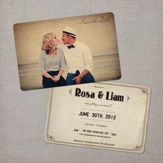 Nostalgic Imprints Inc. - Rosa - 4x6 Vintage Photo Save the Date Card
