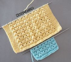 Lace Knitting Patterns, Crotchet Patterns, Knitting Stiches, Easy Knitting, Crochet Blanket Patterns, Baby Blanket Crochet, Crochet Blouse, Baby Dress, Needlework