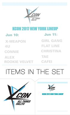 """KCON 2017 NEW YORK LINEUP"" by infinite-kpop-magazine ❤ liked on Polyvore featuring art"