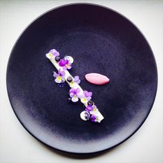 Forestblueberry, violets, yogurt - The ChefsTalk Project
