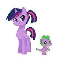 My Teenage Pony: Twilight and Spike by kilala97! I LOVE HER!