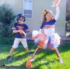 Chicago Bears Football Player and Cheerleader - 2014 Halloween Costume Contest