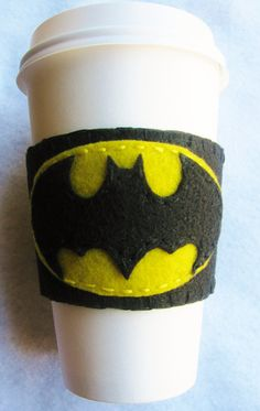 Batman Felt Coffee Cozy