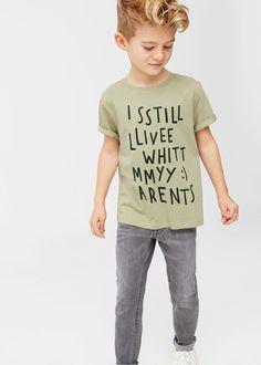 Katoenen t-shirt met afbeelding -  Kinderen   MANGO Kids België