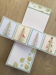 Tutoriel carte pop up twist Entre les branches par Marie Meyer Stampin up - http://ateliers-scrapbooking.fr/